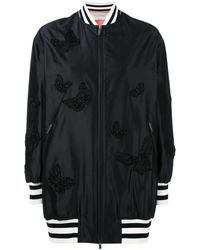 Valentino Butterfly Embroidered Bomber Jacket