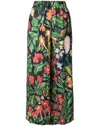 Daniela Gregis - Cropped Printed Trousers - Lyst