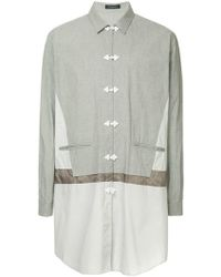 Undercover - Contrast Panel Long Shirt - Lyst