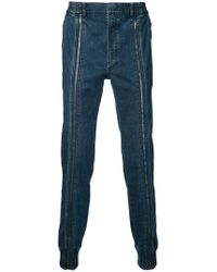 Juun.J - Zipped Leg Jeans - Lyst