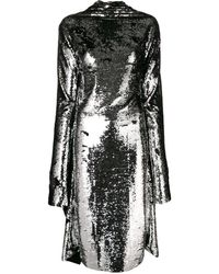 Paula Knorr Asymmetric Sequin Midi Dress