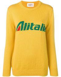 Alberta Ferretti - Alitalia Knit Jumper - Lyst