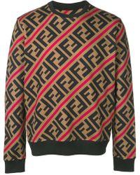 Fendi - Printed Ff Logo Sweatshirt - Lyst