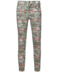 Nicole Miller - Slim Checked Jeans - Lyst
