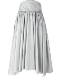 Olympia Le-Tan - Pleated A-line Skirt - Lyst