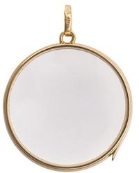 Loquet London - Large Round Gold Locket Pendant - Lyst
