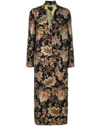Femme By Michele Rossi - Embroidered Fitted Coat - Lyst