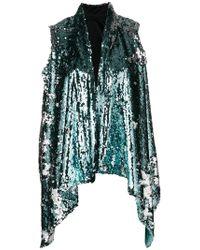 Halpern - Draped Embellished Waistcoat - Lyst