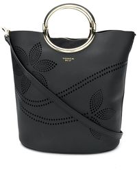 Tosca Blu - Perforated Bucket Tote - Lyst