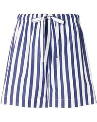 Aspesi - Striped Drawstring Shorts - Lyst