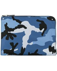 Valentino - Garavani Camouflage Document Case - Lyst