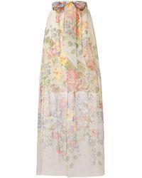 Gucci Floral Print Sheer Skirt