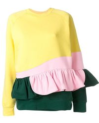 Ioana Ciolacu - Frilled Colour Block Sweatshirt - Lyst