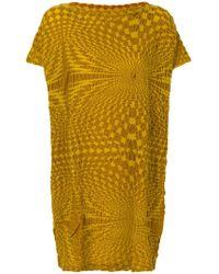 Issey Miyake Cauliflower - Textured T-shirt Dress - Lyst