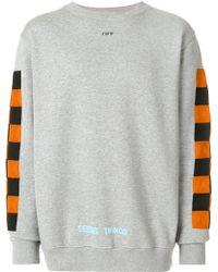 offwhite co virgil abloh contrast panel sweatshirt lyst