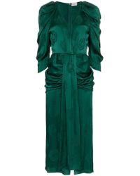 Magda Butrym - Downey Silk Jacquard Dress - Lyst