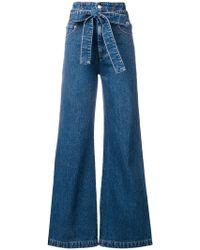 MSGM - Belted Flared Jeans - Lyst