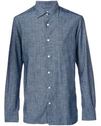 Kiton - Printed Fitted Shirt - Lyst