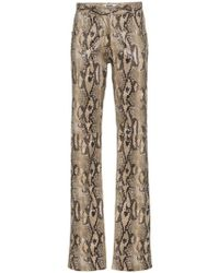 MSGM - Pantalones con estampado de piel de pitón - Lyst