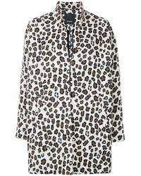 Pinko - Leopard Print Oversized Coat - Lyst