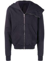 Rick Owens Drkshdw - Asymmetric Hooded Jacket - Lyst