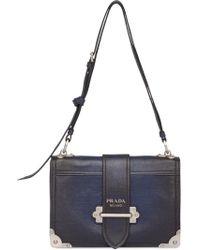 56f10e65def3e Prada Cahier Convertible Belt Bag in Green - Lyst