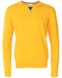 Sun 68 - Contrast Detail Sweater - Lyst