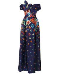 Carolina Herrera - Vestito a fiori - Lyst