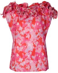 Manoush | Camouflage Rose Print Top | Lyst