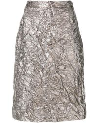 Sies Marjan - Textured Satin Skirt - Lyst