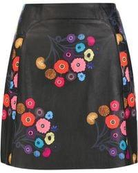 Tanya Taylor - Floral Print Mini Skirt - Lyst