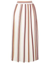 Loro Piana - Striped Pleated Skirt - Lyst