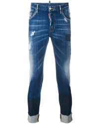 DSquared² - Skinny Cropped Jeans - Lyst