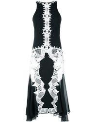 Jonathan Simkhai - Black Lace-appliquéd Dress - Lyst