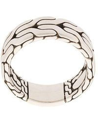 John Hardy - Silver Classic Chain Band Ring - Lyst