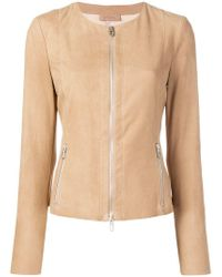 DROMe - Fitted Leather Jacket - Lyst