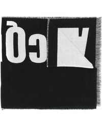 McQ - Logo Knitted Scarf - Lyst