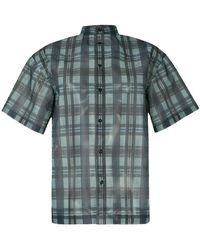 Toga Pulla - Checkered Print Sheer Shirt - Lyst