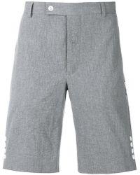 Moncler Gamme Bleu - Side Button Tailored Shorts - Lyst