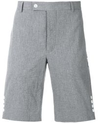 Moncler - Side Button Tailored Shorts - Lyst