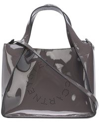 53d218a5e4 Stella McCartney - 513860w8405 Grigio Scuro Artificial- artificial Leather  - Lyst