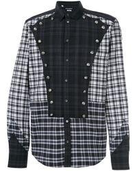 04da2e74 Dolce & Gabbana - Button Detail Checked Shirt - Lyst