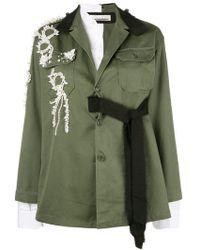 Night Market - Embellished Shirt Jacket - Lyst
