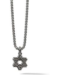 David Yurman - Cable Star Of David Pendant - Lyst