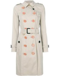 Burberry - Belted Trench Coat - Lyst