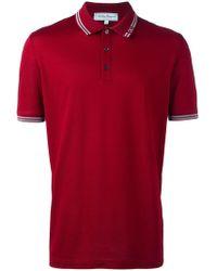 Ferragamo - Button Front Polo Shirt - Lyst