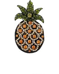 N°21 Embellished Pineapple Brooch