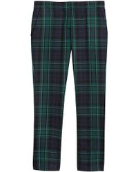 Burberry | Tartan Tailored Trousers | Lyst