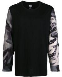 Yohji Yamamoto - Printed Sleeves Sweatshirt - Lyst