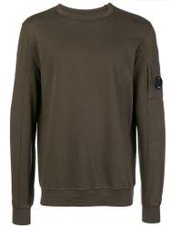C P Company - Sweatshirt mit Knopf - Lyst